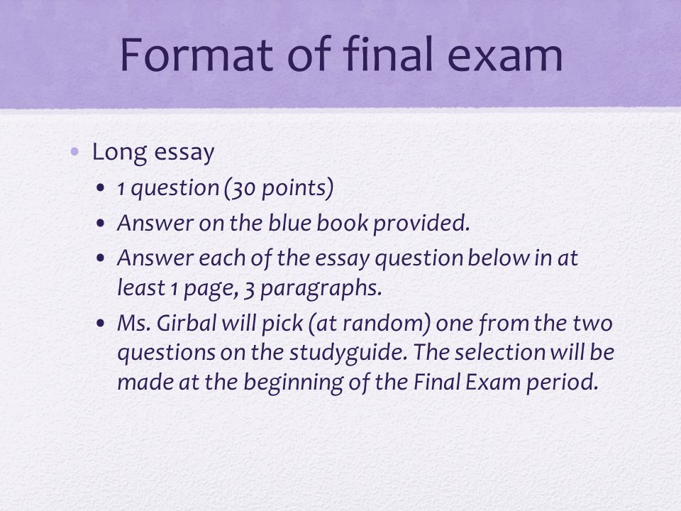history structured essay question format