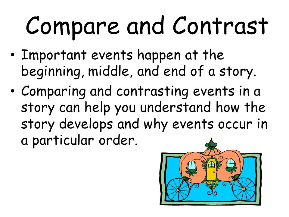 Compare and Contrast: Working With Narrative Texts