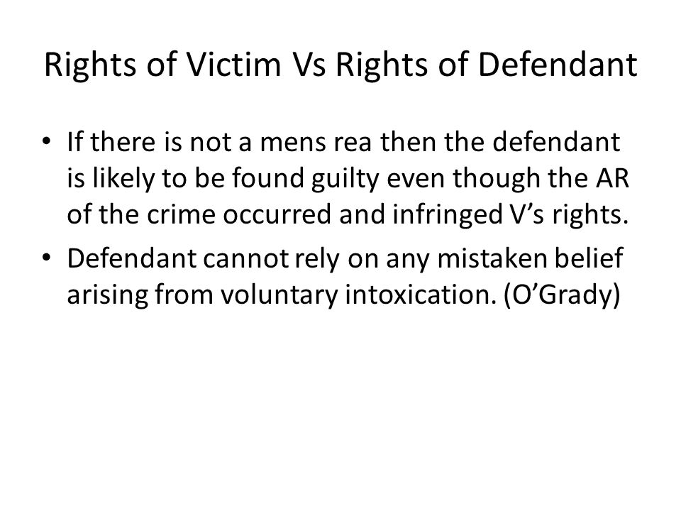 Balancing rights of victim