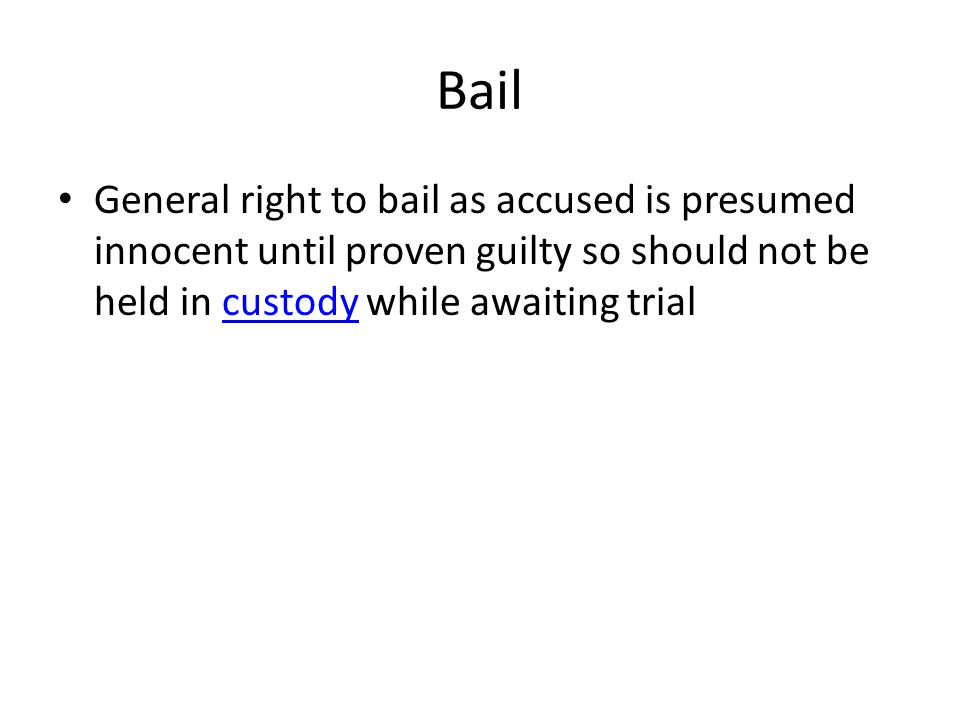law on bail balancing the rights (iv) measures to ensure respect for human rights for all and the rule of law as the   a fair balance should be struck, so that each party has a reasonable  bail  or other measures short of detention by the court, this means that an accused.