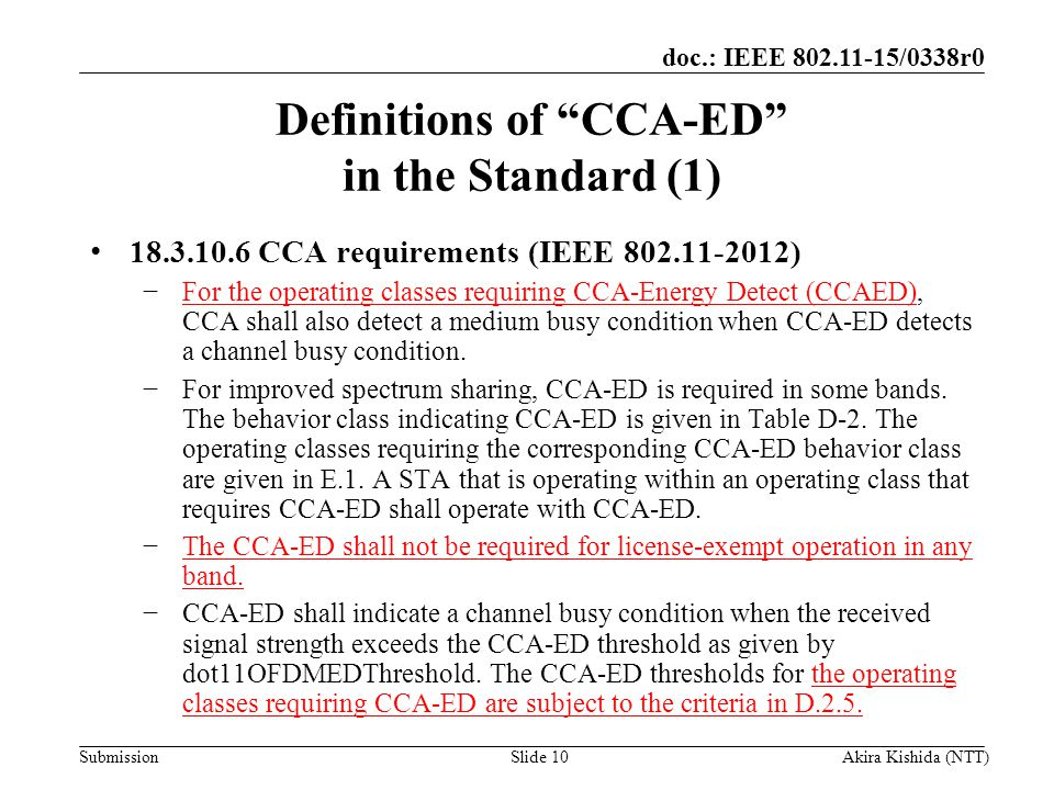 Definitions of CCA-ED in the Standard (1)