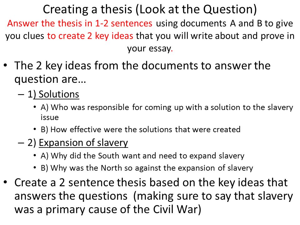 Dbq essay questions civil war