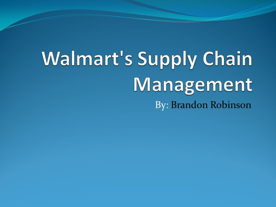 walmart supply chain management Walmart's supply chain is legendary, and it has been involved in an incredible number of important supply chain events and innovation below, we present a timeline of.