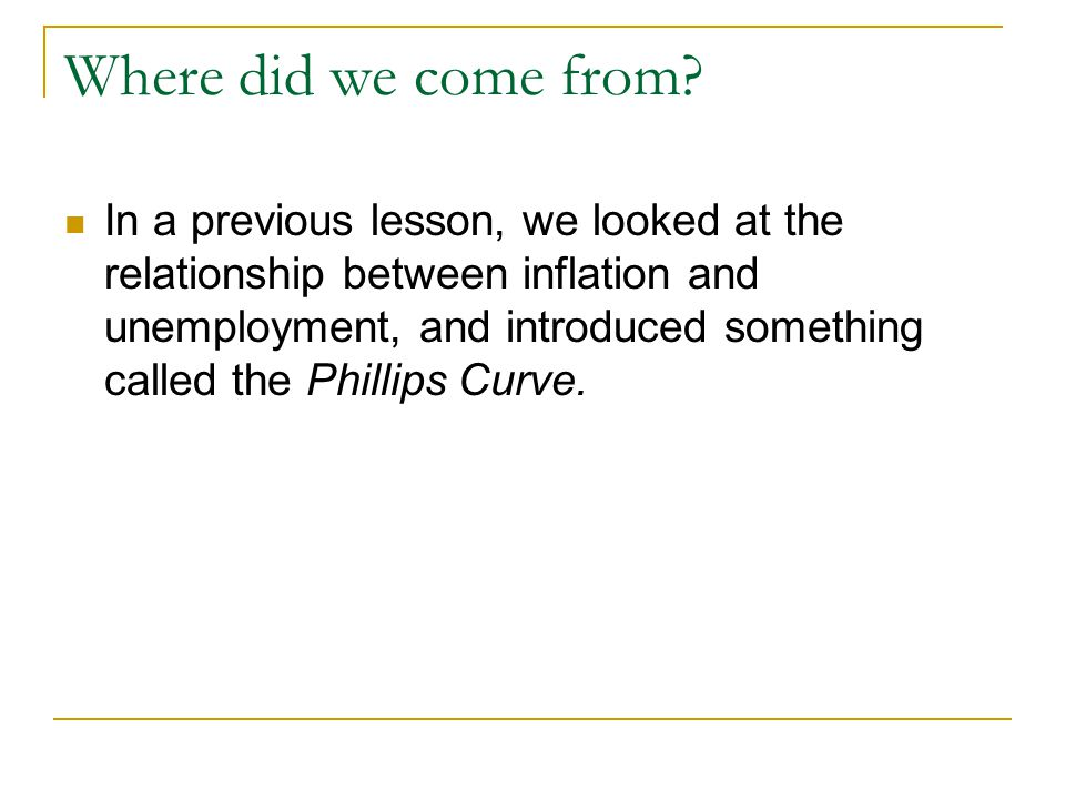 analyzing relationship between inflation rate and per capi Relationship between inflation and growth has been carried out by kydland and prescott (1990) these authors argue that supply shocks, not demand shocks, are responsible for the inverse relationship.