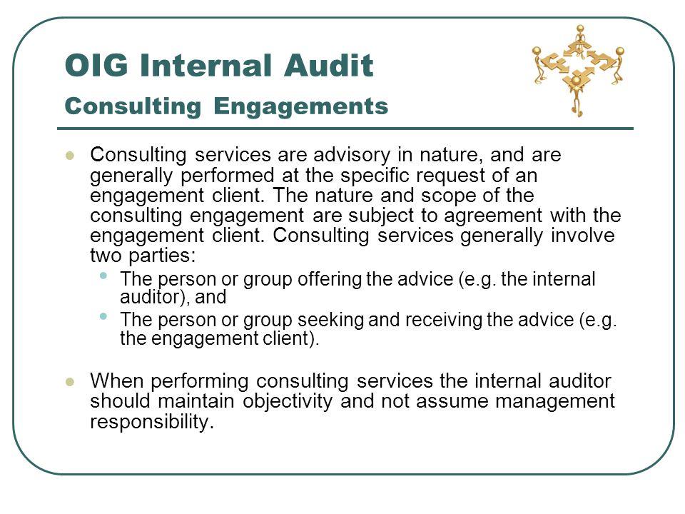 Office of inspector general oig internal audit ppt download oig internal audit consulting engagements platinumwayz