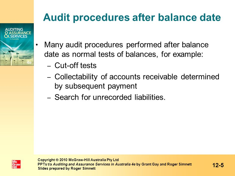 unrecorded liability audit procedures Adjustments discovered by the auditors and not recorded to the  limitation of or  other arrangements regarding liability of  alterations in audit procedures .