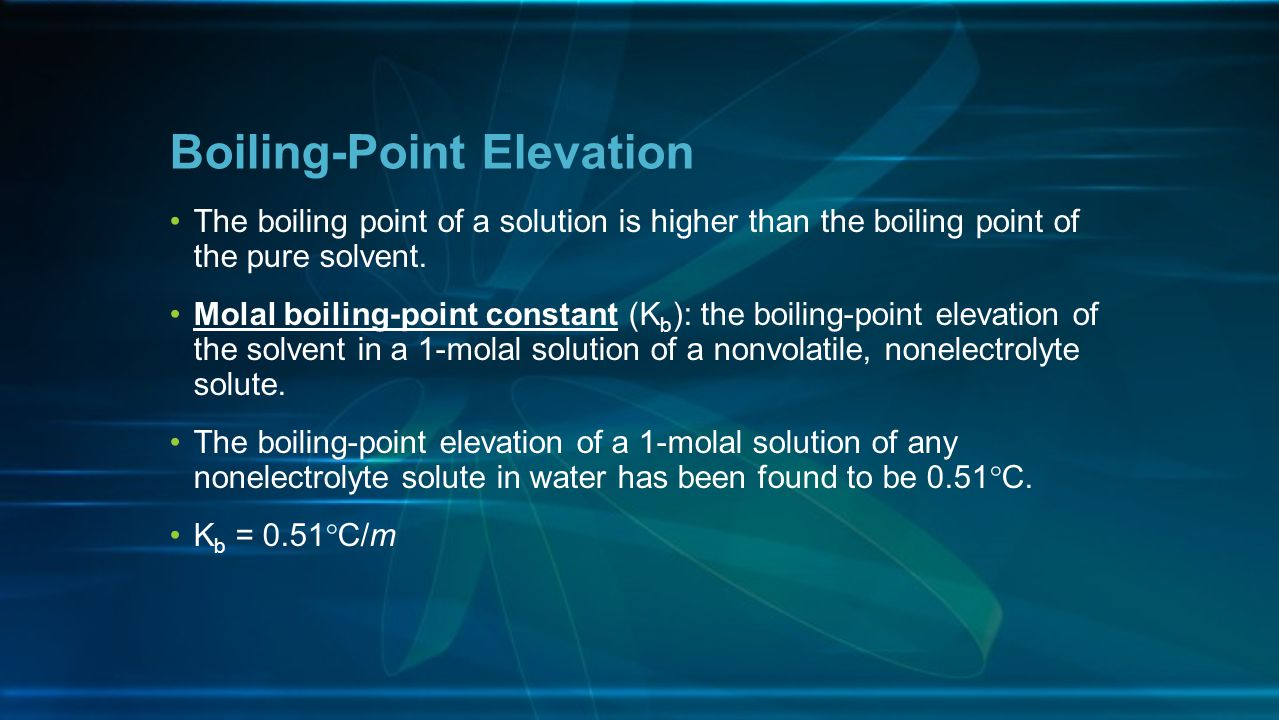 Boiling-Point Elevation