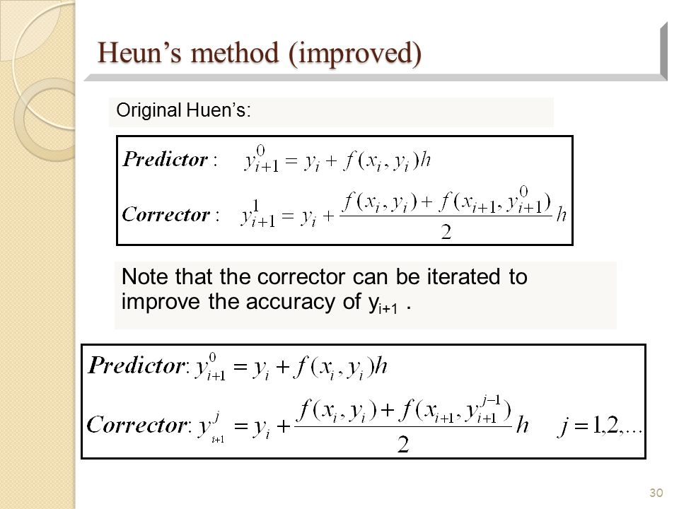 Heun's method (improved)