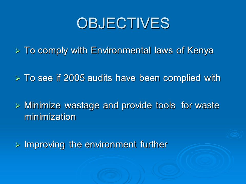 environmental law in kenya Environmental impact assessments (eias) have served as recognized project   kenya and many other african nations have passed legislation making such.