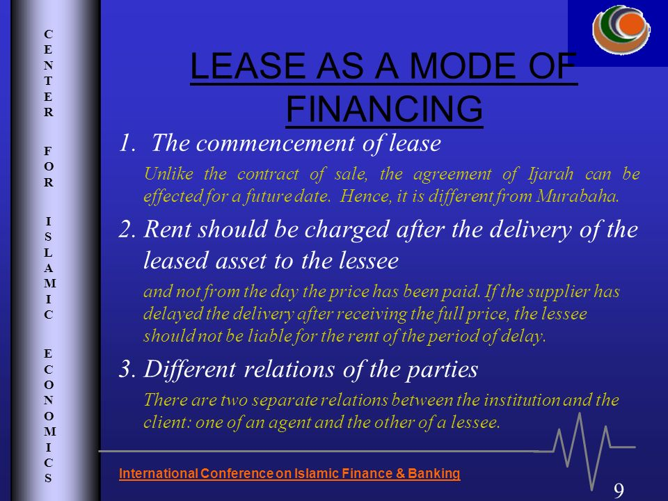 LEASE AS A MODE OF FINANCING