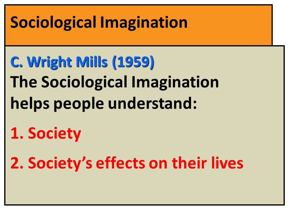 Understanding the concept of sociological imagination by c wright mills