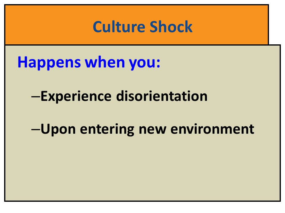 Culture Shock: A Mixed-Level Speaking Activity