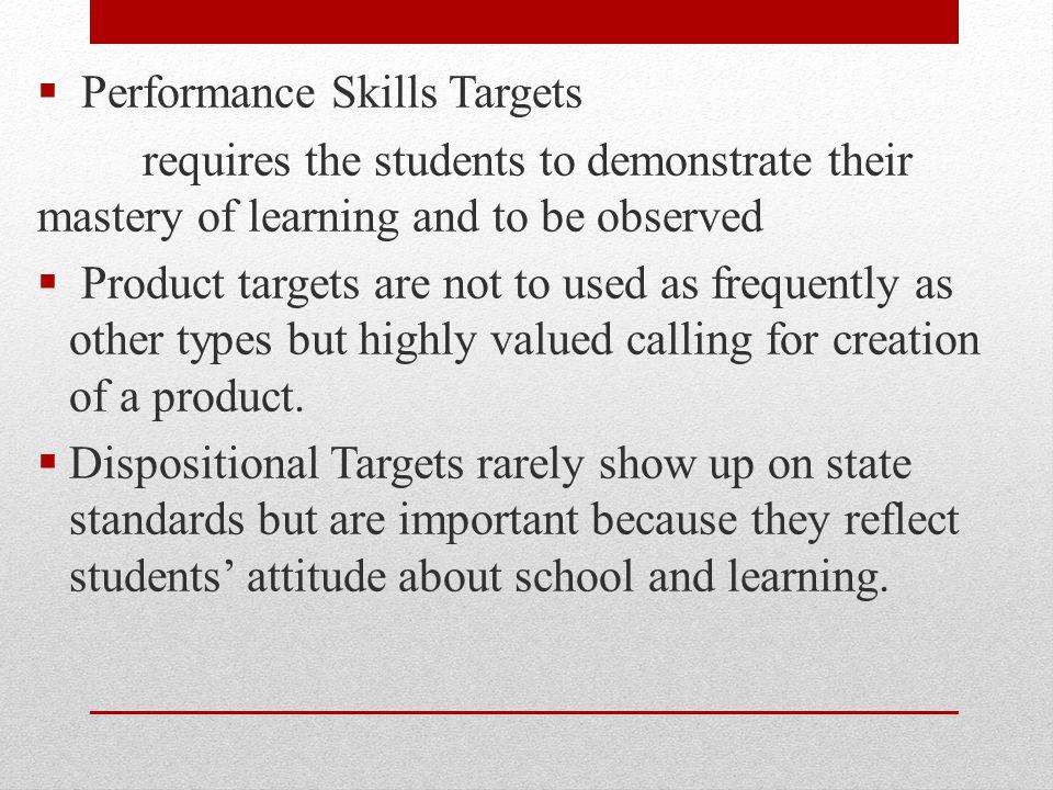 Performance Skills Targets