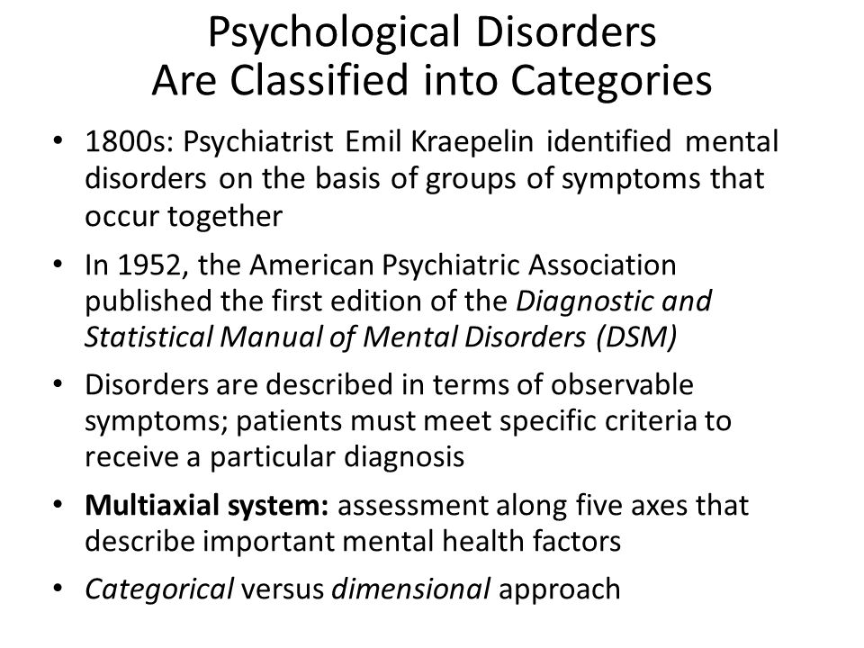 diagnostic and statistical manual of mental disorders 6