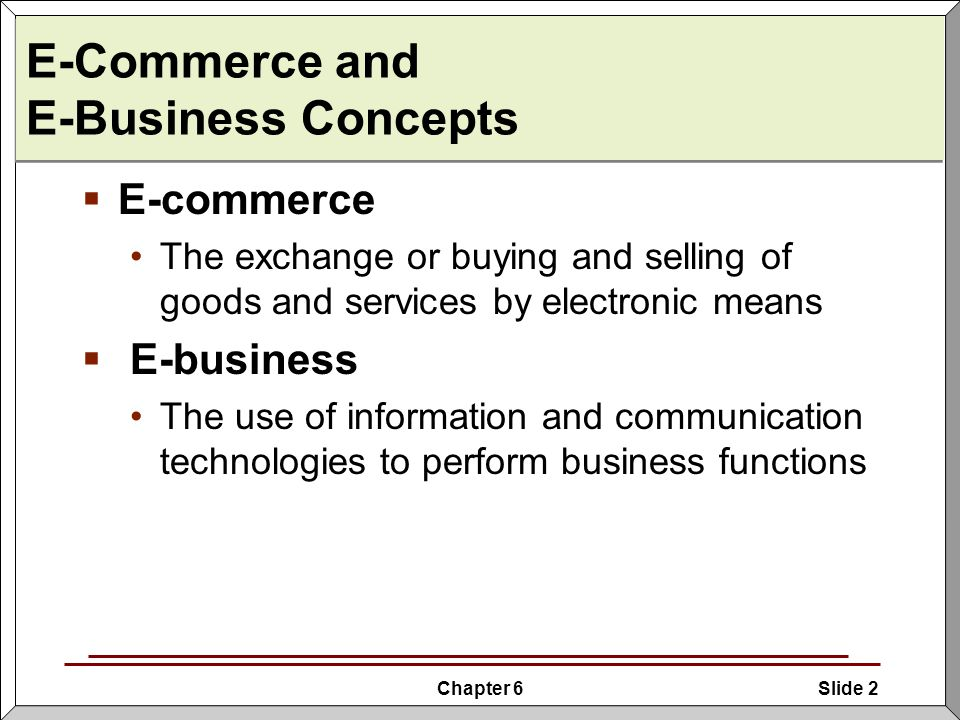 Introduction To Internet And E Business Ecommerce And Ebusinessintroduction
