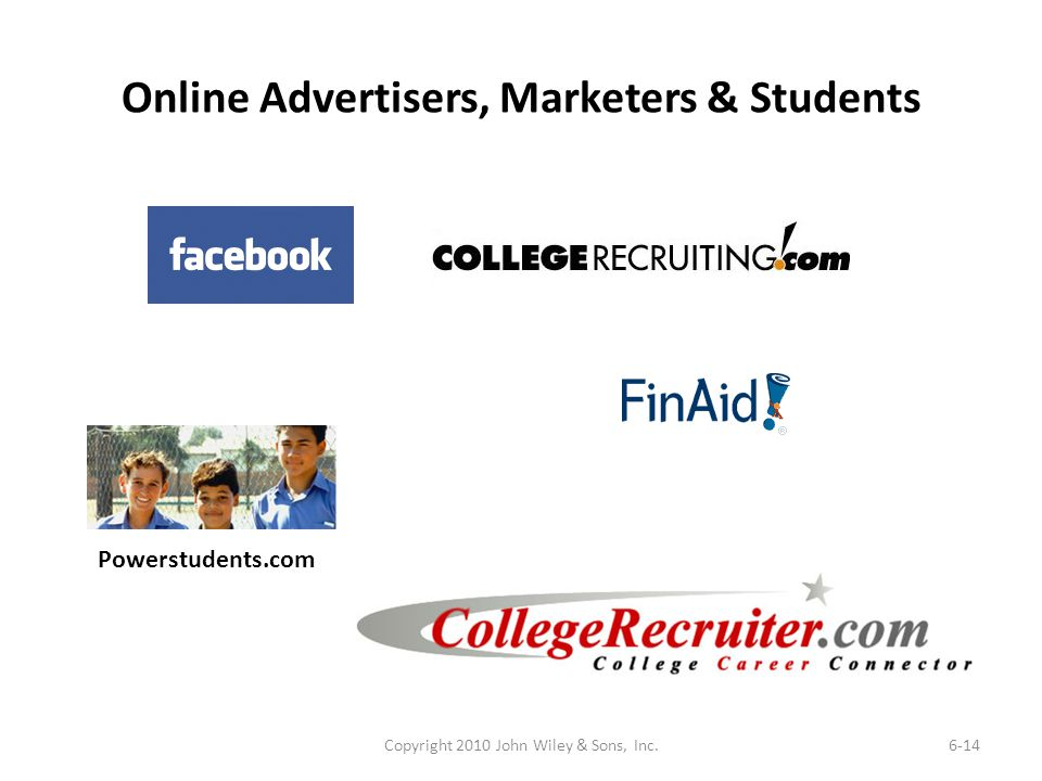 Online Advertisers, Marketers & Students
