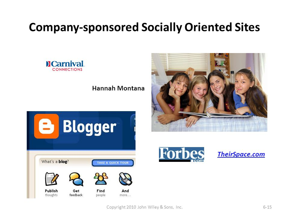 Company-sponsored Socially Oriented Sites