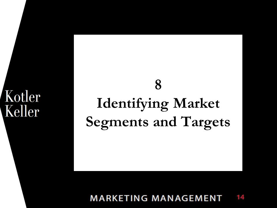 8 Identifying Market Segments and Targets