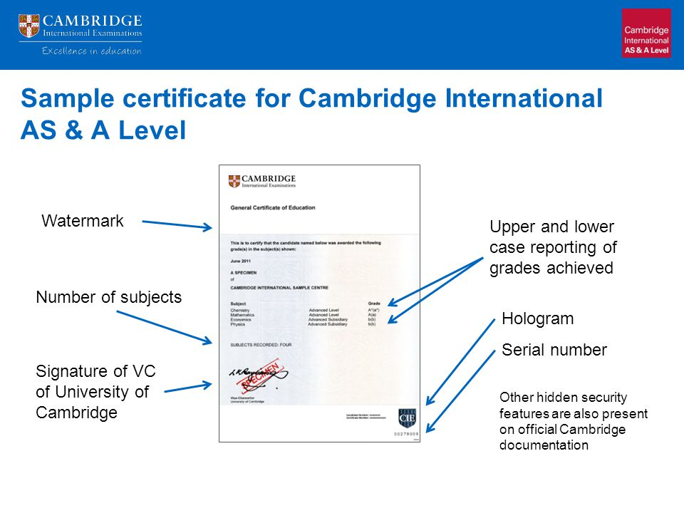 What admissions officers need to know ppt video online download sample certificate for cambridge international as a level yadclub Image collections