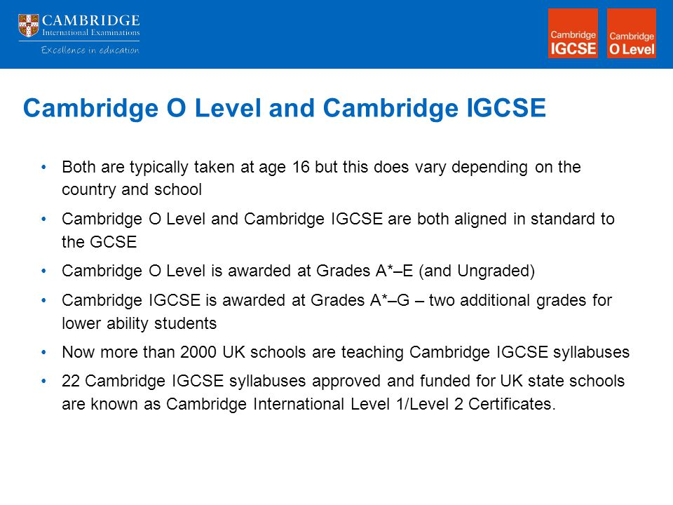 grade and cambridge o level Cambridge guide to making entries (including syllabus and option codes) - november series 2018 monitoring of coursework (2018) cie top ten 2017 - o level.