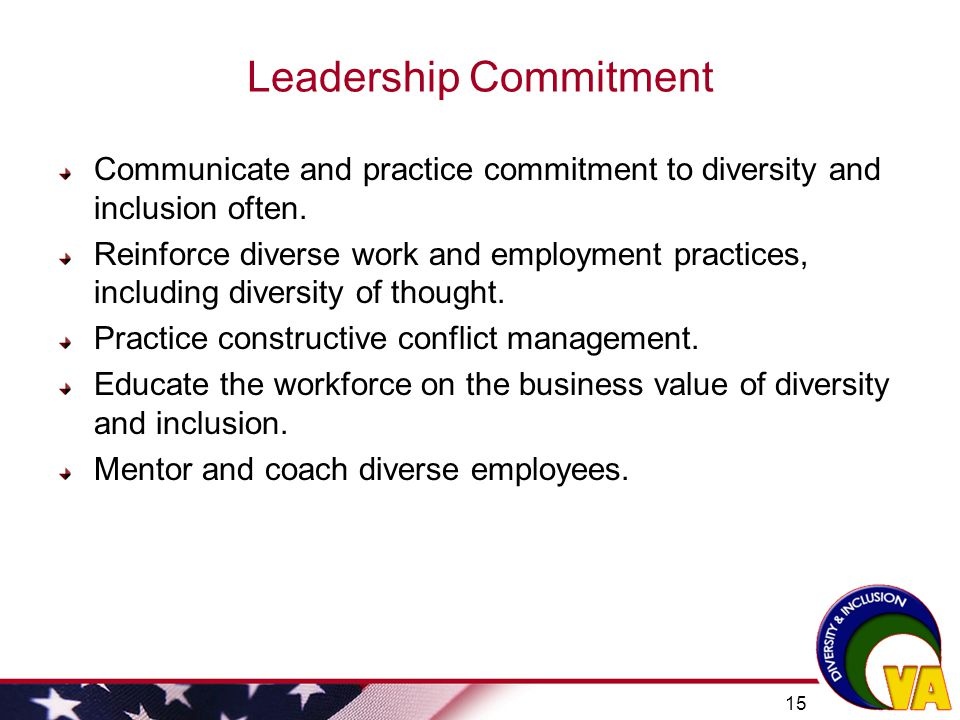 Diversity And Inclusion In The Va Workforce Ppt Video