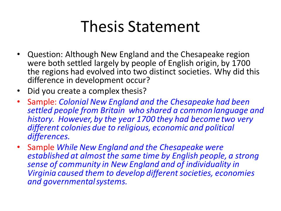 Dbq essay new england chesapeake region