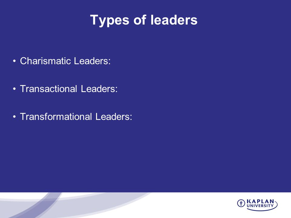 three types of charismatic leadership Abstract this essay gives an overview of various leadership types and focuses on the charismatic leadership it attempts to explain the charismatic leadership process with an example of mahatma gandhi as a charismatic leader.