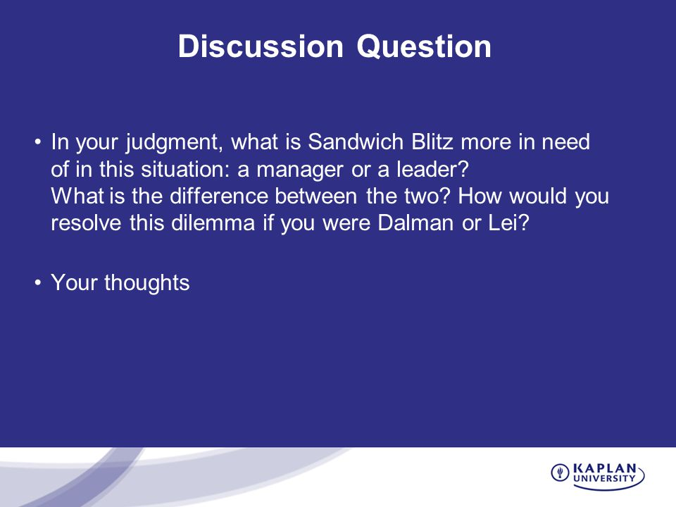 dalman lei 1 clearly identify the problem that dalman and lei are faced with 2 in a word document, compose an e-mail message from dalman and lei to sandwich blitz's middle management, explaining the steps necessary to manage this new technology change.