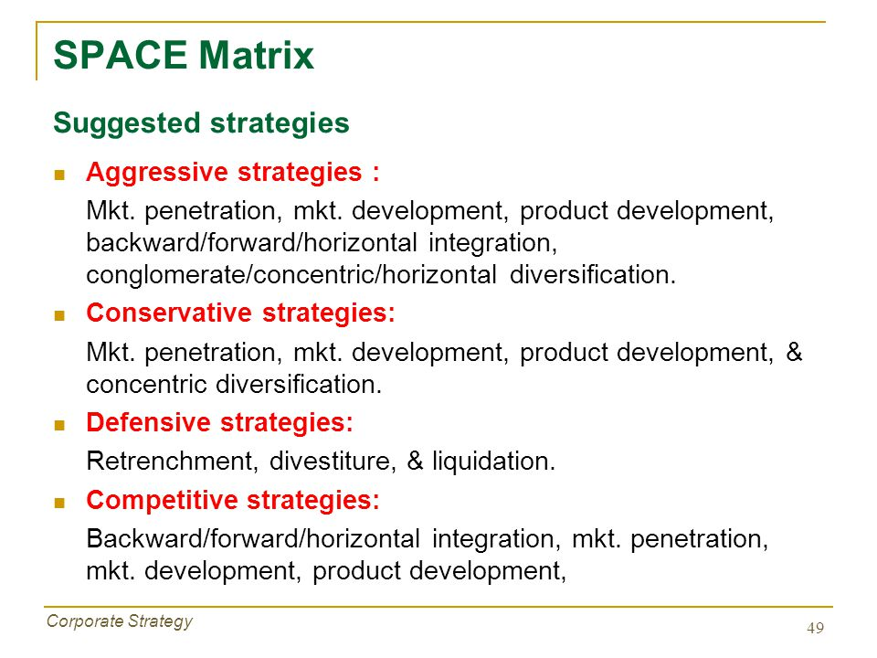 integration strategies intensive strategies diversification strategies defensive strategies Advertisements: marketing strategies – rivalry, growth, consolidation and functional strategies contents : 1 meaning advertisements: 2 types of marketing strategies rivalry strategies growth strategies consolidation strategies functional strategies 1.
