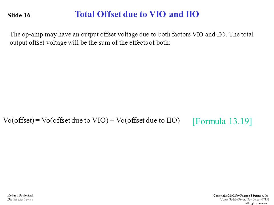 Total Offset due to VIO and IIO