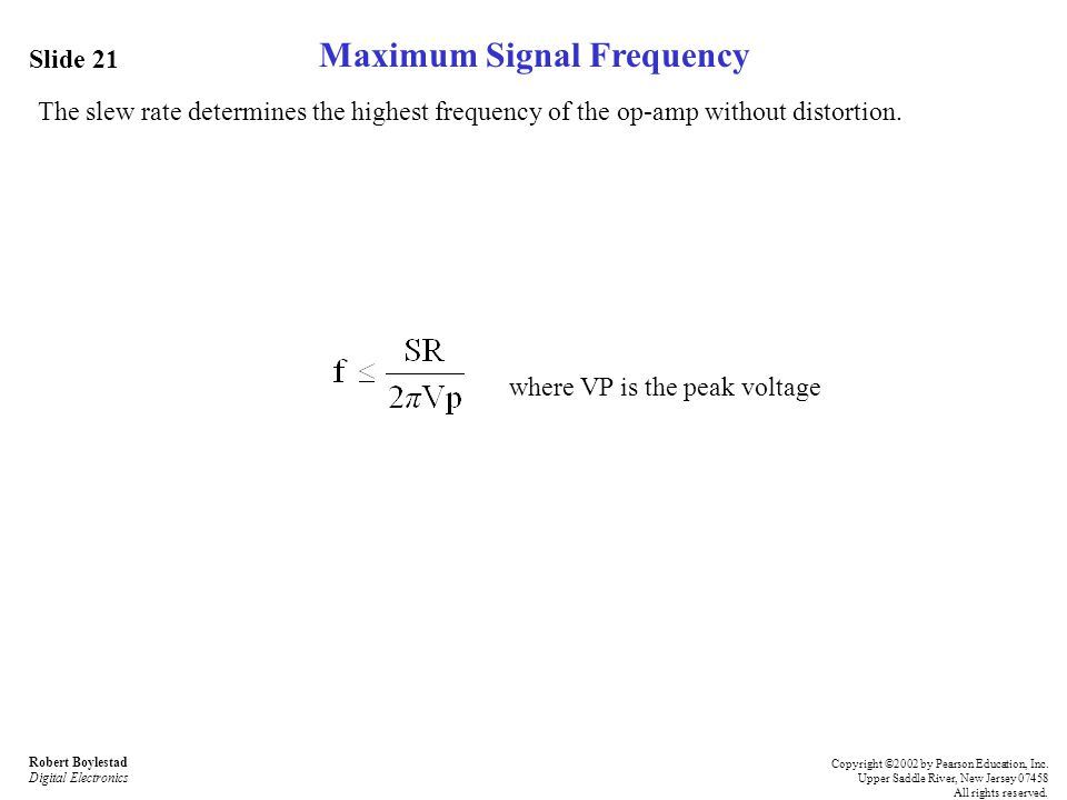 Maximum Signal Frequency