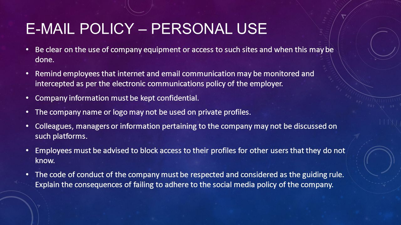 an internet usage policy provides employees Internet policy in the workplace  talk to your employees about internet usage in the workplace,  rocket lawyer provides information and software only.