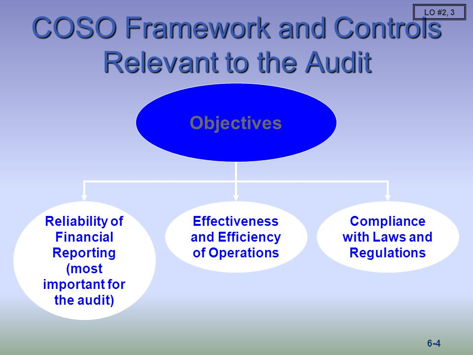 COSO Framework and Controls Relevant to the Audit