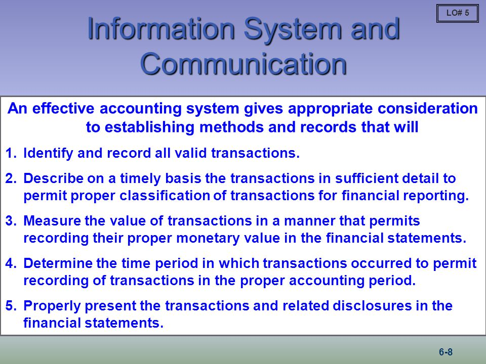 Information System and Communication