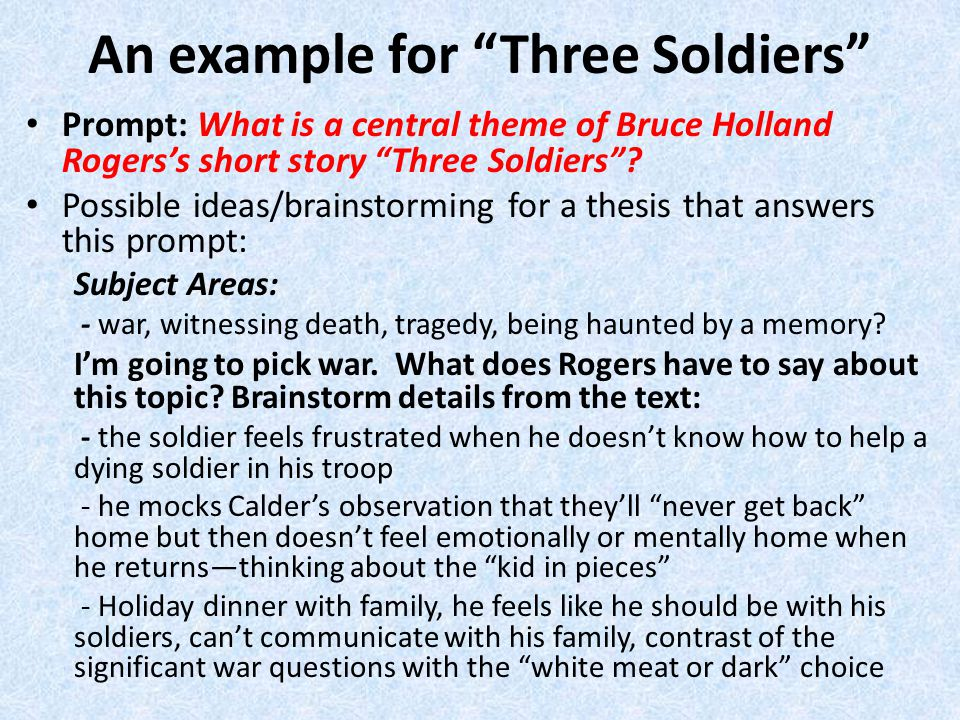 """thesis soldiers home I found ernest hemingway's classic """"soldier's home"""" to be the most interesting   tags: essay on soldier's home, soldier's home dissertation, soldier's home."""