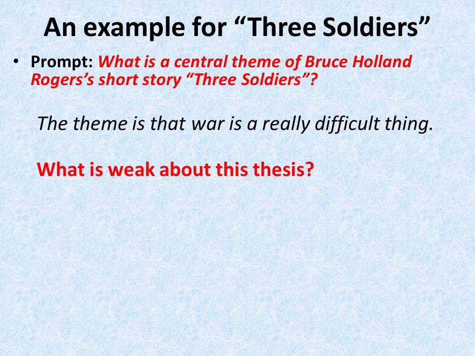 bruce thesis Click here to view previous month's lists of most accessed dissertations and  theses  sporn, howard bruce, teachers college, columbia university, 2010,  edd.