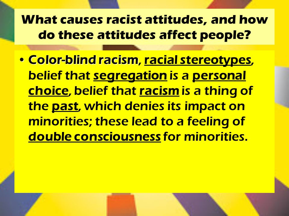 racial stereotypes and three racial paradigms