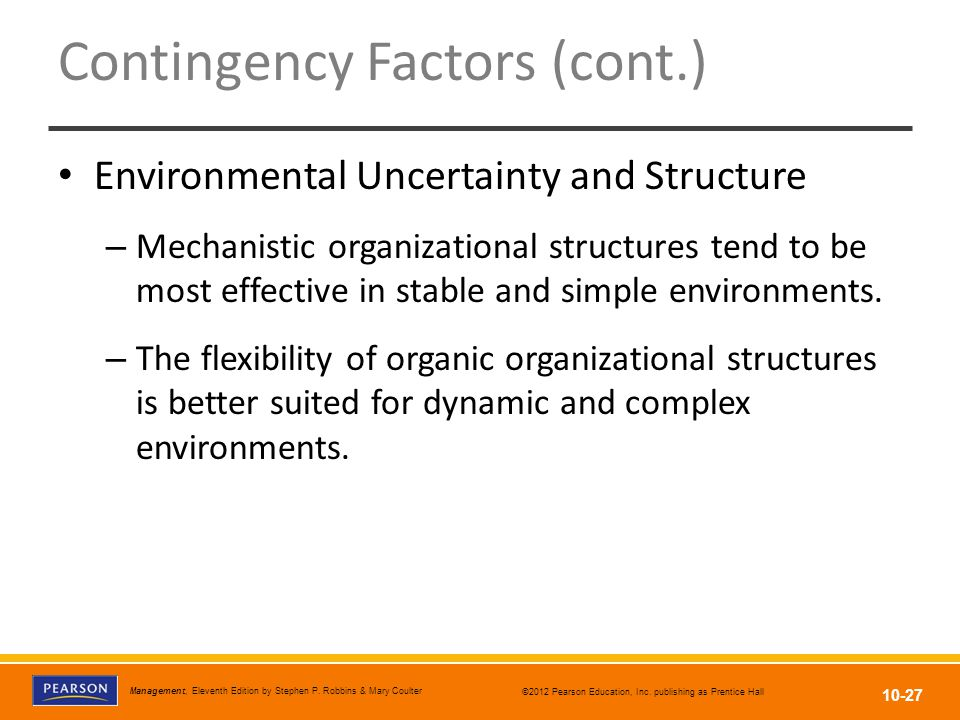 mechanistic structure and organic structure in malaysia This study considers two different organizational structures: organic organizations with flat a structure and low levels of control and mechanistic organizations with a vertical structure and highly formalized system (brief et al, 1996 spencer, 1994) the results serve as guidelines that demonstrate how to develop the right.