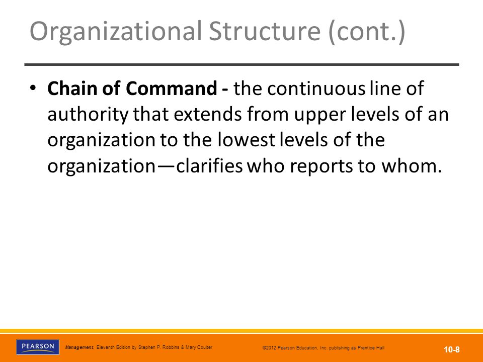 Organizational Structure (cont.)