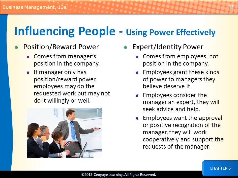 Influencing People - Using Power Effectively