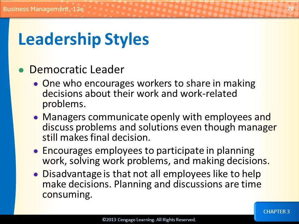 Leadership Styles Democratic Leader