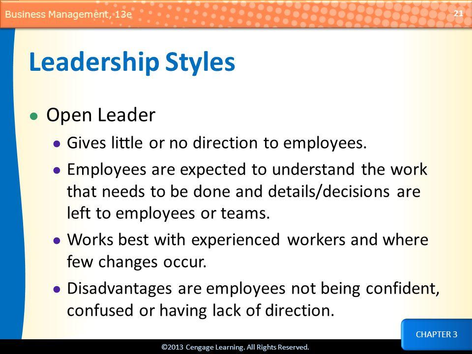 Leadership Styles Open Leader