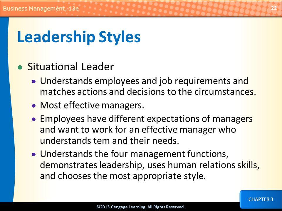 Leadership Styles Situational Leader