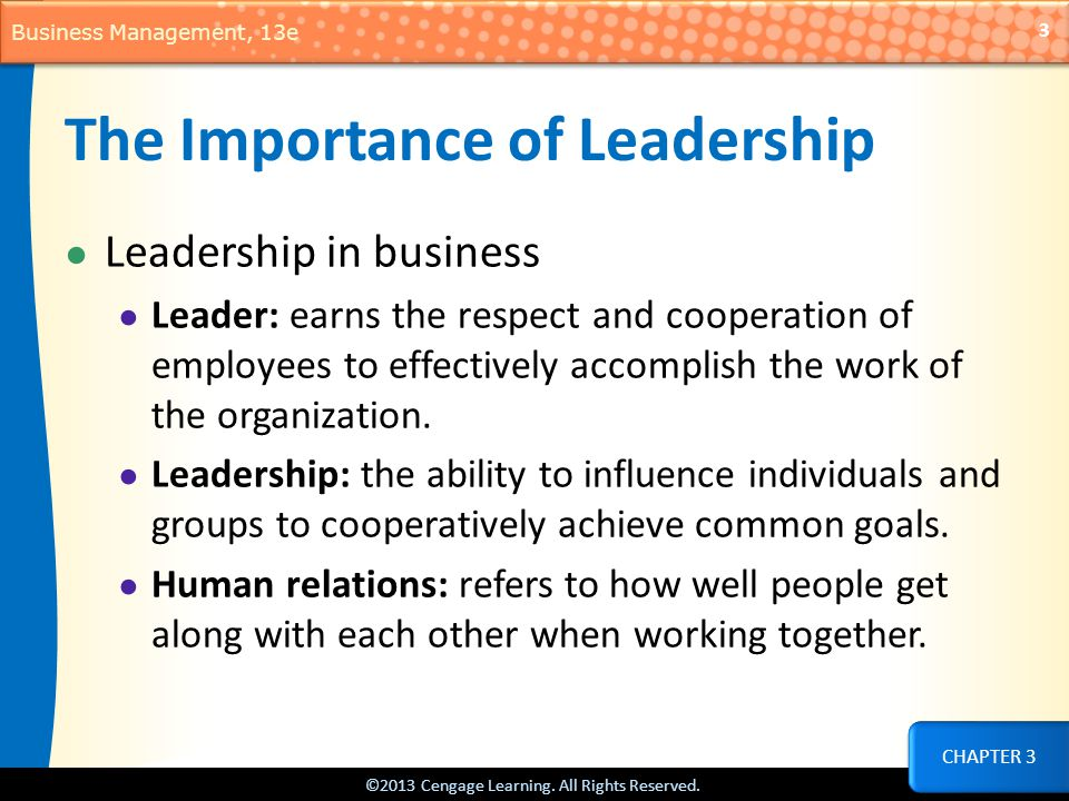 The Importance of Leadership