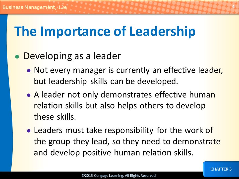 the importance of effective leadership in management What is leadership a manager will be regarded as a leader if they carry out the leadership role of management effectively and importance of good leader.
