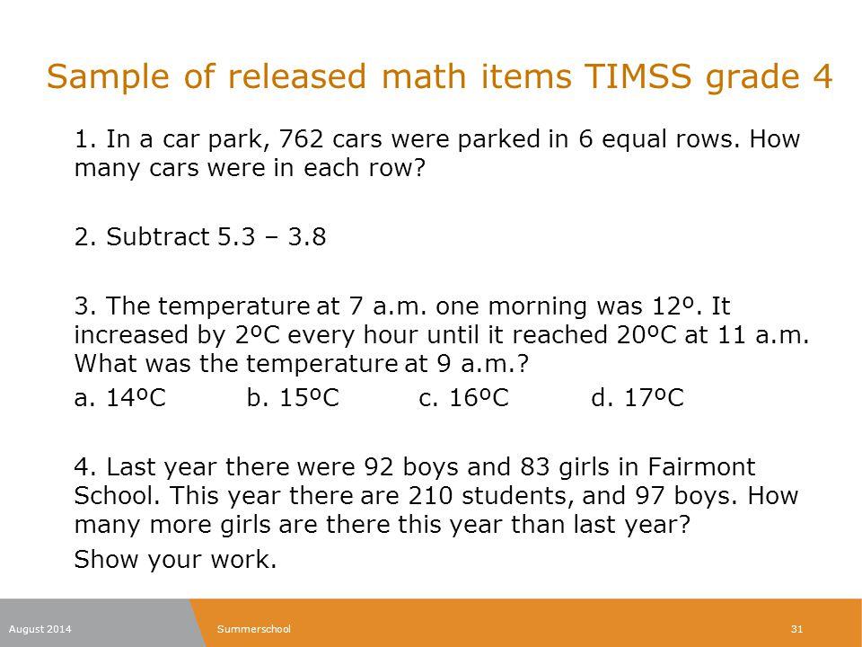 Grade 7 mathematics released form / Shinola watch quality