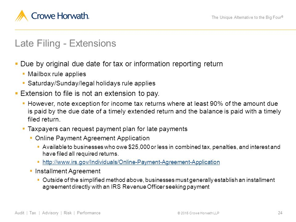 What to do when you miss a filing deadline ppt download late filing extensions ccuart Image collections