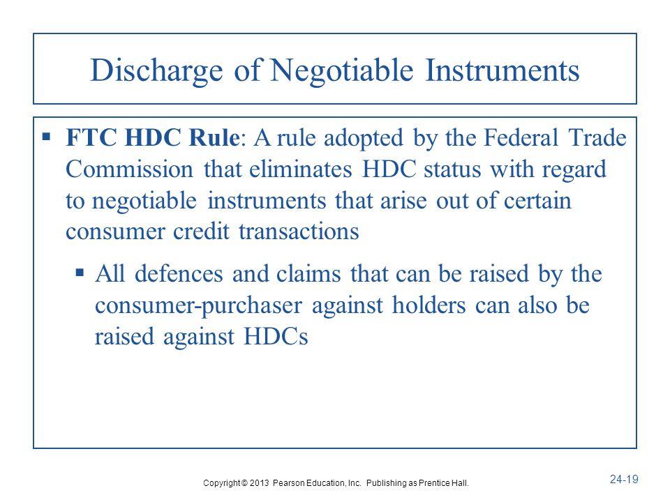discharge of negotiable instruments Dishonour of post-dated cheque for discharge of existing liability is covered by section 138 of the negotiable instruments act, 1881.