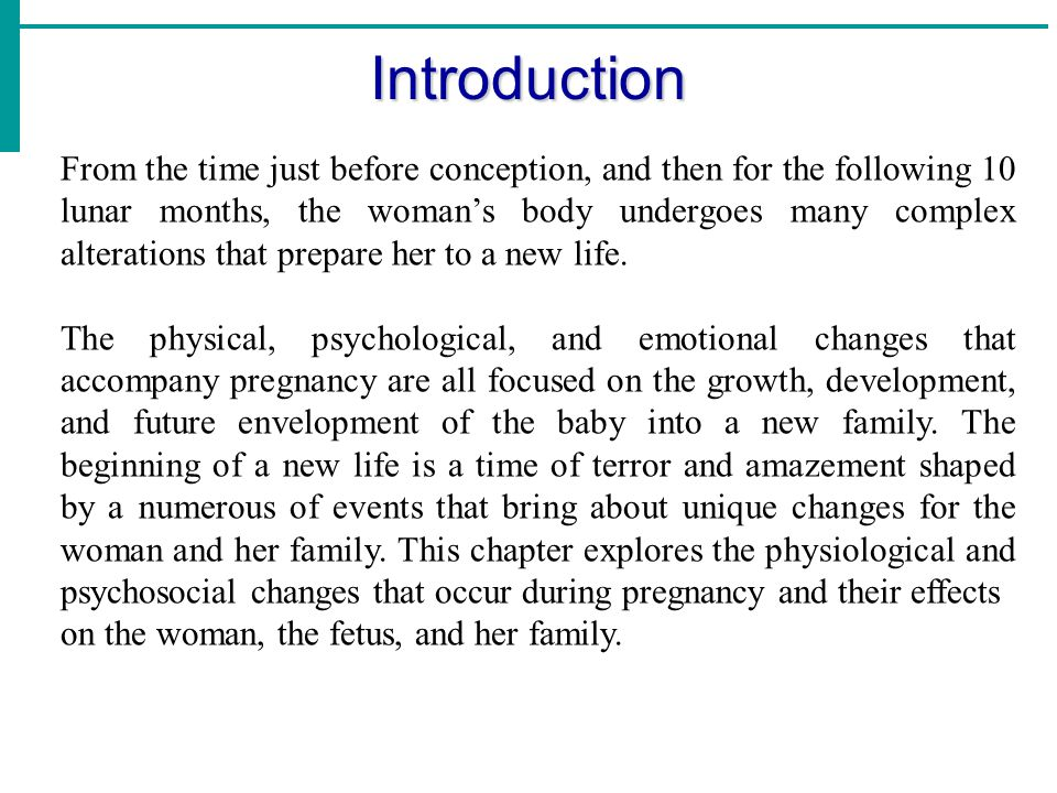 Chapter 2 The Physiology of pregnancy