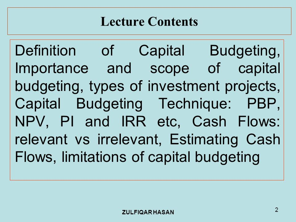 project on bhel capital budgeting Net present value is a capital budgeting method that is likely the most correct capital budgeting method that business owners can use in evaluating whether to invest or not invest in a new capital project.